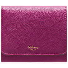 Buy Mulberry Small Continental French Purse, Violet Online at johnlewis.com