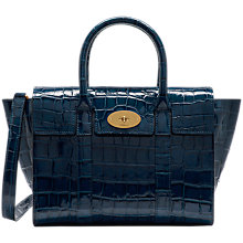 Buy Mulberry Small Bayswater, Croc Navy Online at johnlewis.com