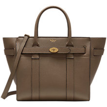 Buy Mulberry Bayswater Small Classic Grain Leather Zipped Bag Online at johnlewis.com