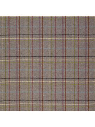 Moon Wool Check Light Grey Twill Fabric, Price Band E