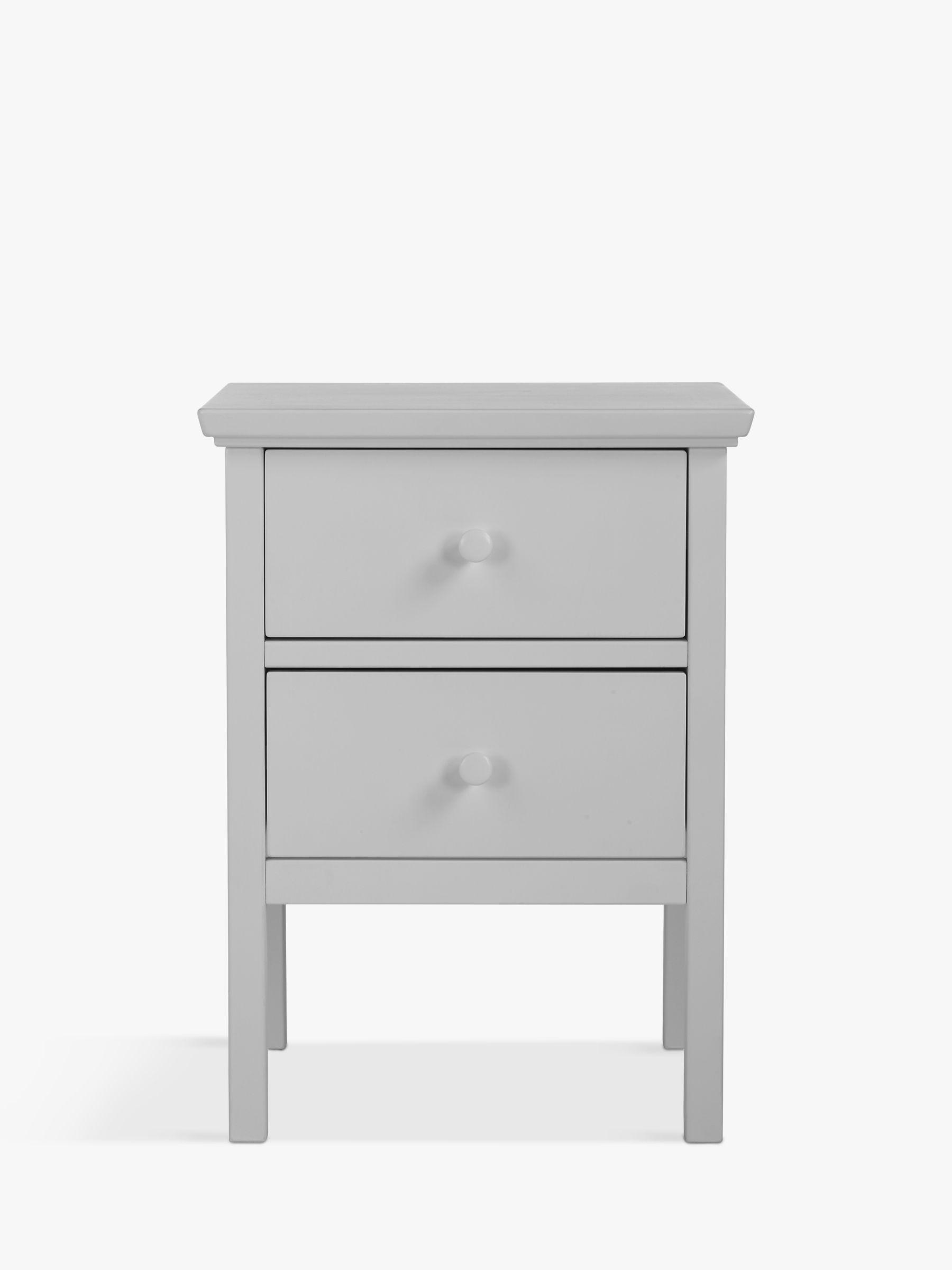 John Lewis Partners Wilton 2 Drawer Bedside Cabinet Grey
