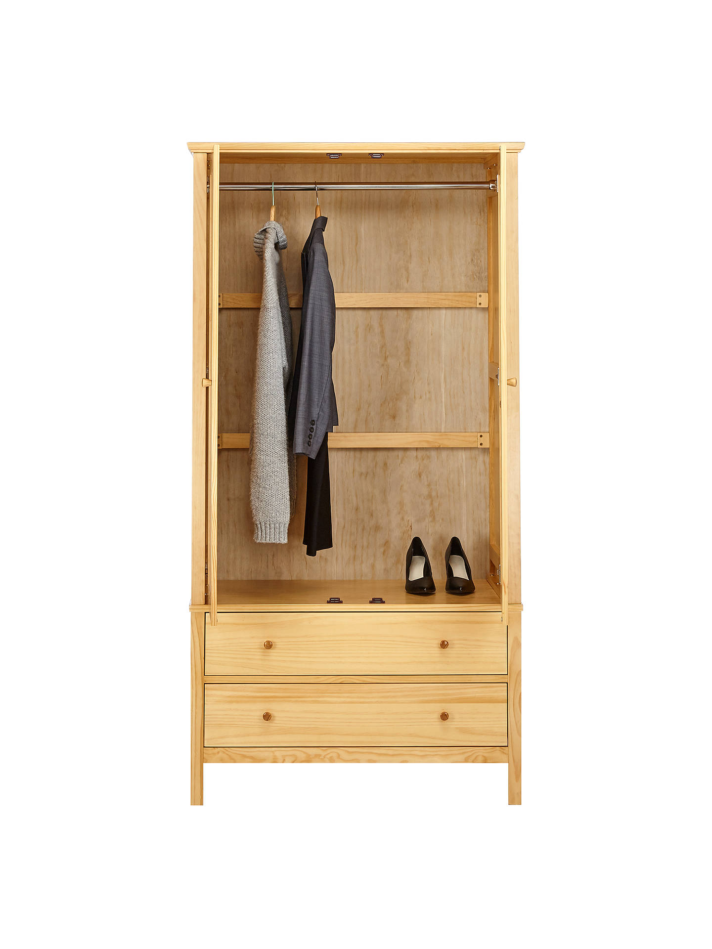 Buy John Lewis & Partners Wilton 2 Door Wardrobe, Natural Online at johnlewis.com