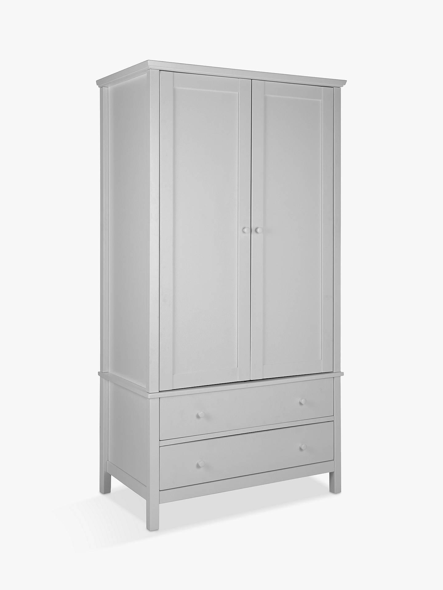 BuyJohn Lewis U0026 Partners Wilton 2 Door Wardrobe, Grey Online At Johnlewis.  ...