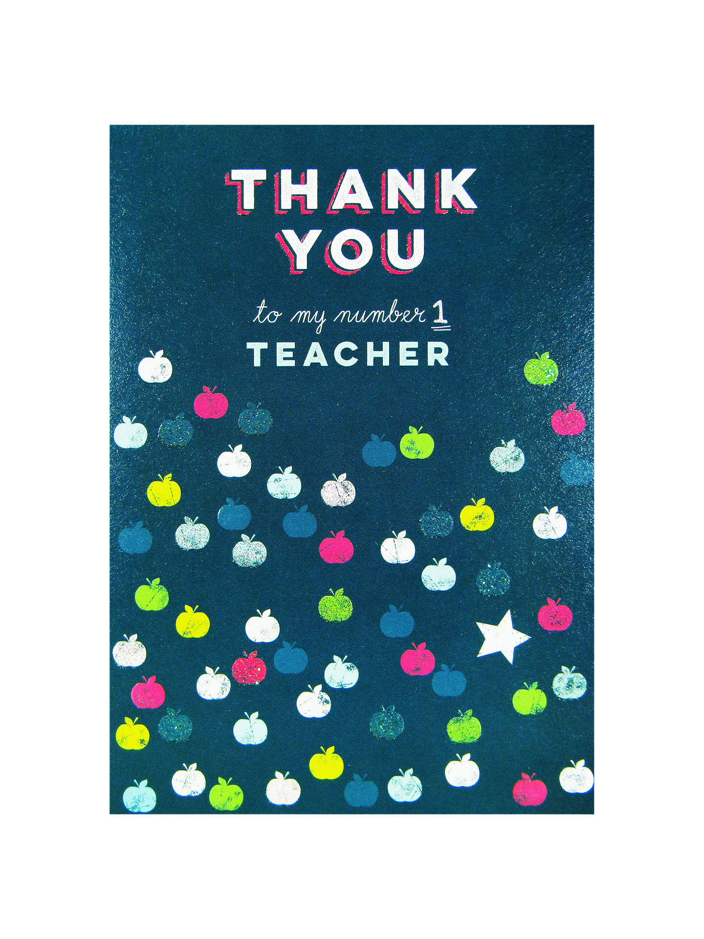 Art File Number Thank You No1 Teacher Greeting Card At John Lewis