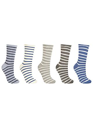 29ea73a05cb John Lewis   Partners Striped Ankle Socks