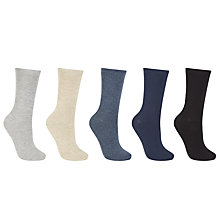 Buy John Lewis Cotton Blend Fashion Ankle Socks, Pack of 5, Multi Online at johnlewis.com