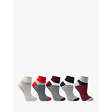 Buy John Lewis Stripe Trainer Liner Socks, Pack of 5, Multi Online at johnlewis.com
