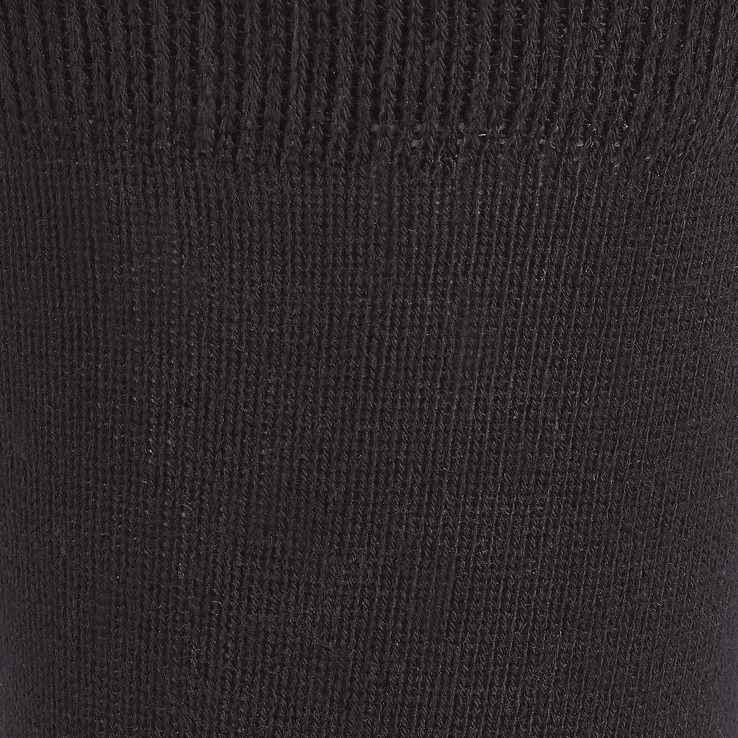 BuyJohn Lewis Cotton Rich Ankle Socks, Pack of 5, Black Online at johnlewis.com