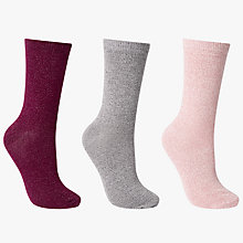 Buy John Lewis Glitter Ankle Socks, Pack of 3, Multi Online at johnlewis.com