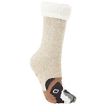 Buy John Lewis Boxer Dog Chunky Novelty Ankle Socks, Beige/Tan Online at johnlewis.com