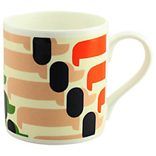 Buy Orla Kiely Sausage Dog Mug, Orange, 300ml Online at johnlewis.com