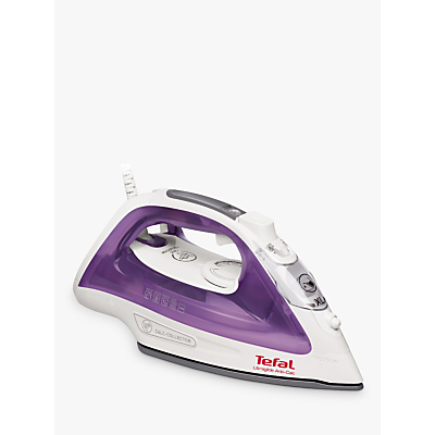 Tefal FV2661 Ultraglide Anti-Scale Steam Iron, White/Purple