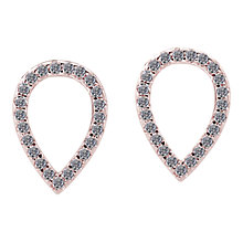 Buy CARAT* London Minoan Serpentine Stud Earrings, Rose Gold Online at johnlewis.com