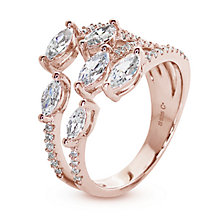 Buy CARAT* London Medusa Serpentine Ring, Rose Gold Online at johnlewis.com
