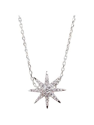 CARAT* London Atrias Stella Pendant Necklace, Silver