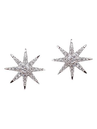 CARAT* London Vega Stella Stud  Earrings, Silver