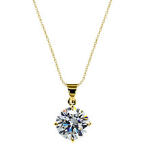Buy CARAT* London 9ct Gold Round Pendant Necklace Online at johnlewis.com