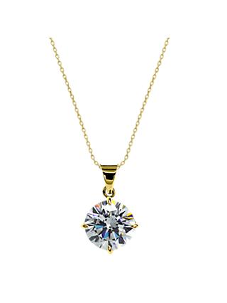 CARAT* London 9ct Gold Round Pendant Necklace