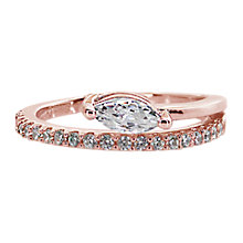 Buy CARAT* London Gaea Serpentine Ring, Rose Gold Online at johnlewis.com
