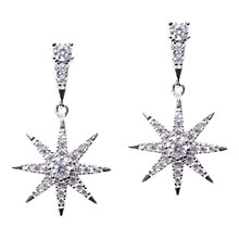Buy CARAT* London Sterling Silver Nysa Stella Drop Earrings, Silver Online at johnlewis.com