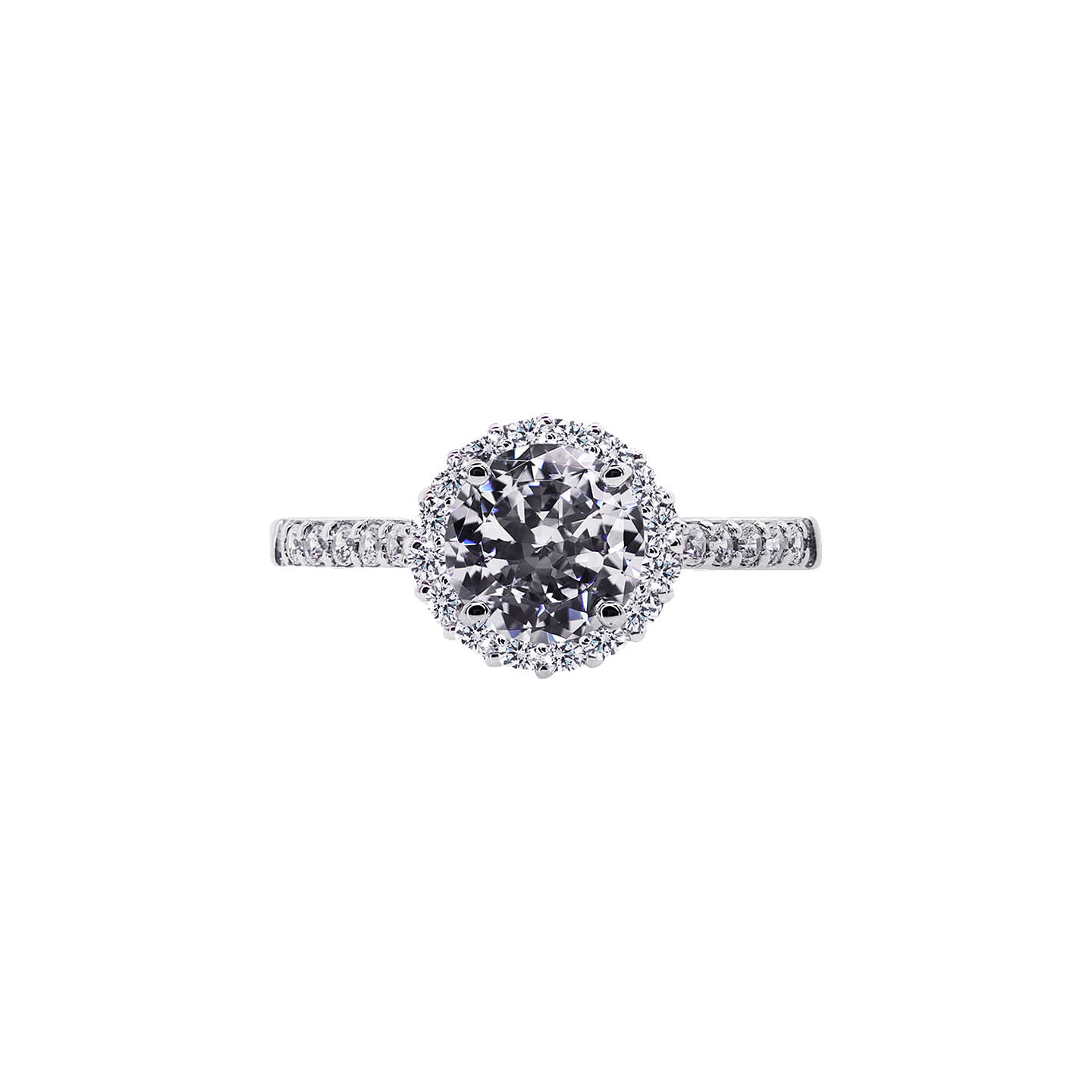 halo mount square rings p waa ring semi round engagement diamond