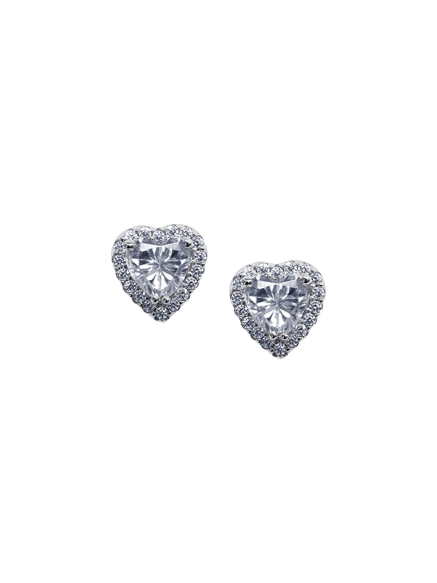 BuyCARAT  London Cora Sterling Silver Heart Stud Earrings ce909a1ce44b