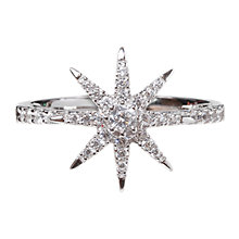 Buy CARAT* London Vega Stella Ring, Silver Online at johnlewis.com
