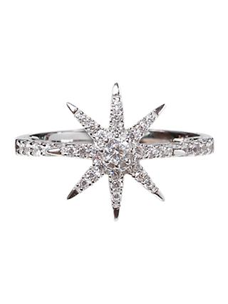 CARAT* London Vega Stella Ring, Silver