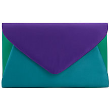 Buy John Lewis Fiona Clutch Bag, Blue Online at johnlewis.com
