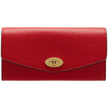 Buy Mulberry Darley Leather Veg Grain Wallet, Scarlet Online at johnlewis.com
