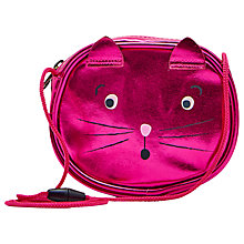 Buy Little Joule Children's Cat Party Bag, Pink Online at johnlewis.com