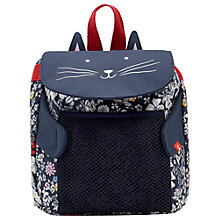 Buy Little Joule Children's Cat Rucksack, Navy Online at johnlewis.com