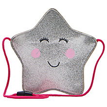 Buy Little Joule Children's Star Party Bag, Silver Online at johnlewis.com