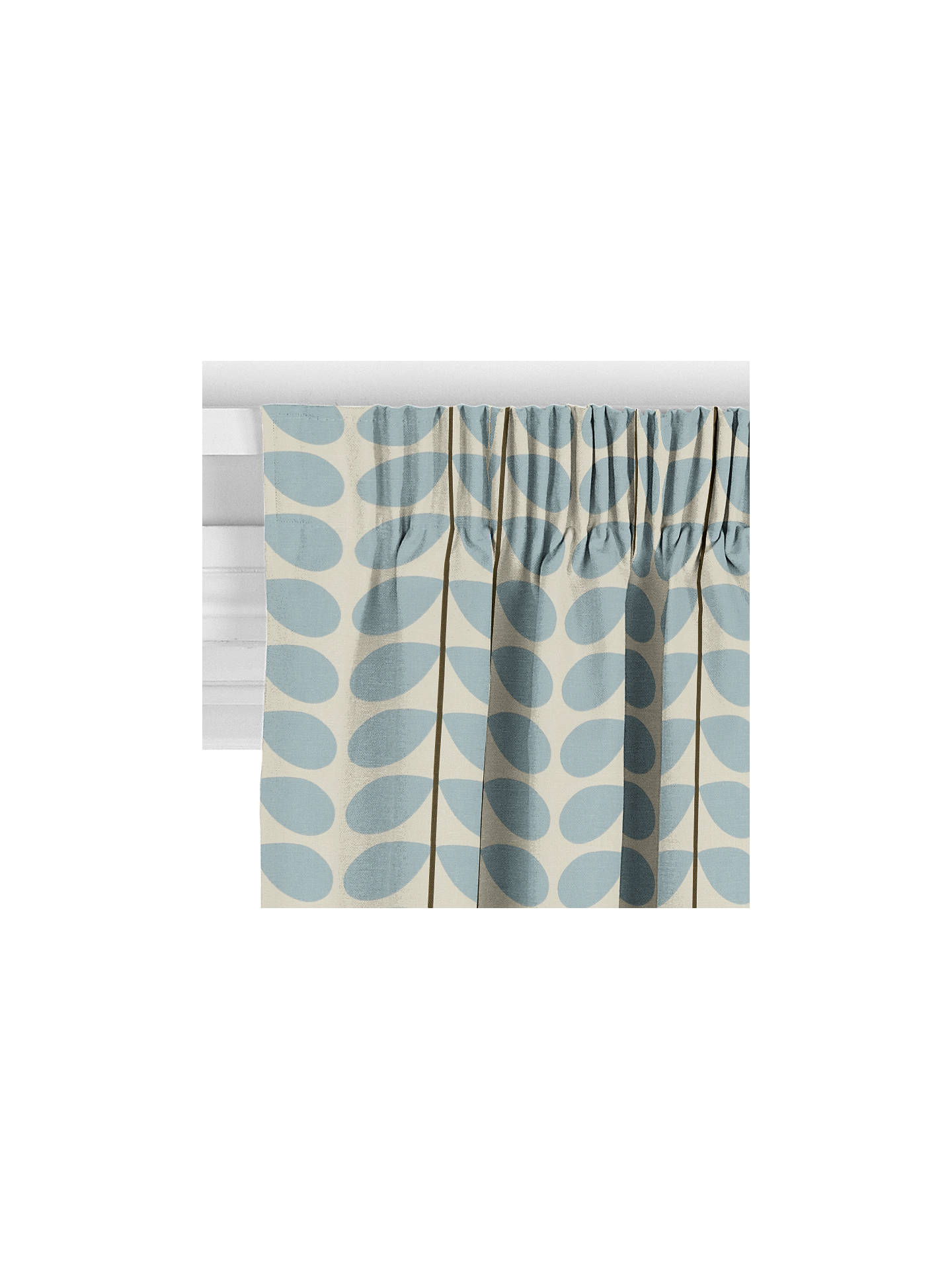 Orla Kiely Two Stem Made To Measure Curtains Blue At John