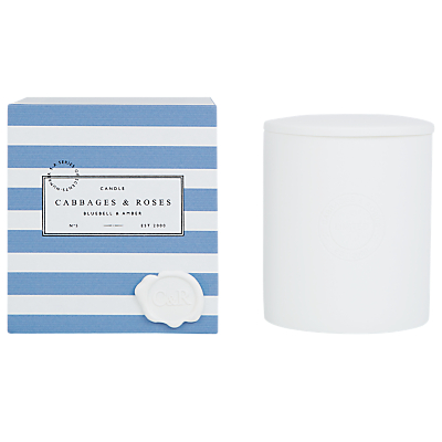 Cabbages & Roses Bluebell and Amber Candle