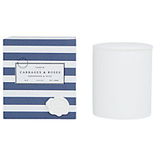 Buy Cabbages & Roses Cedarwood and Spice Candle Online at johnlewis.com