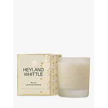 Buy Heyland & Whittle Wild Lemongrass Candle Online at johnlewis.com