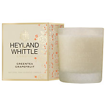 Buy Heyland & Whittle Green Tea & Grapefruit Candle Online at johnlewis.com