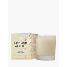 Buy Heyland & Whittle Citrus & Lavender Candle Online at johnlewis.com