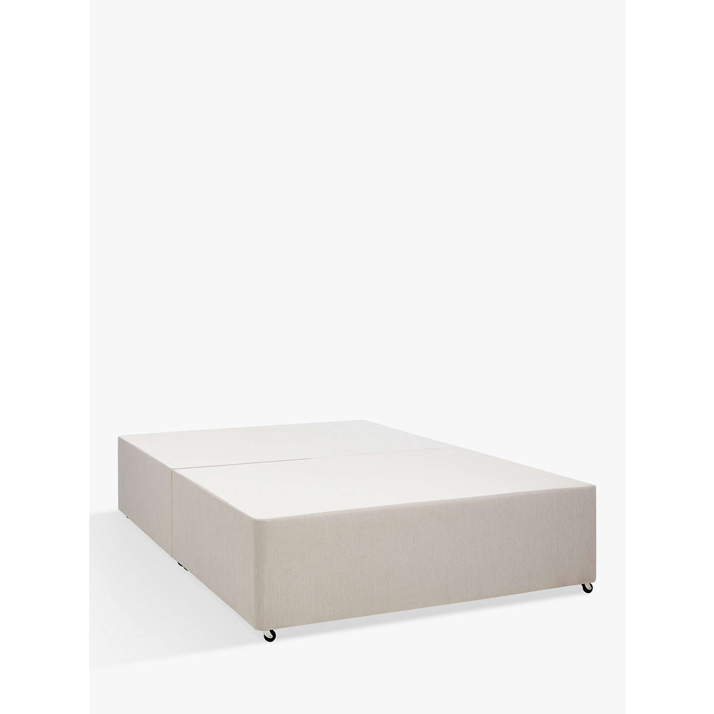 John Lewis Non Sprung Divan Base Pebble Small Double At John Lewis