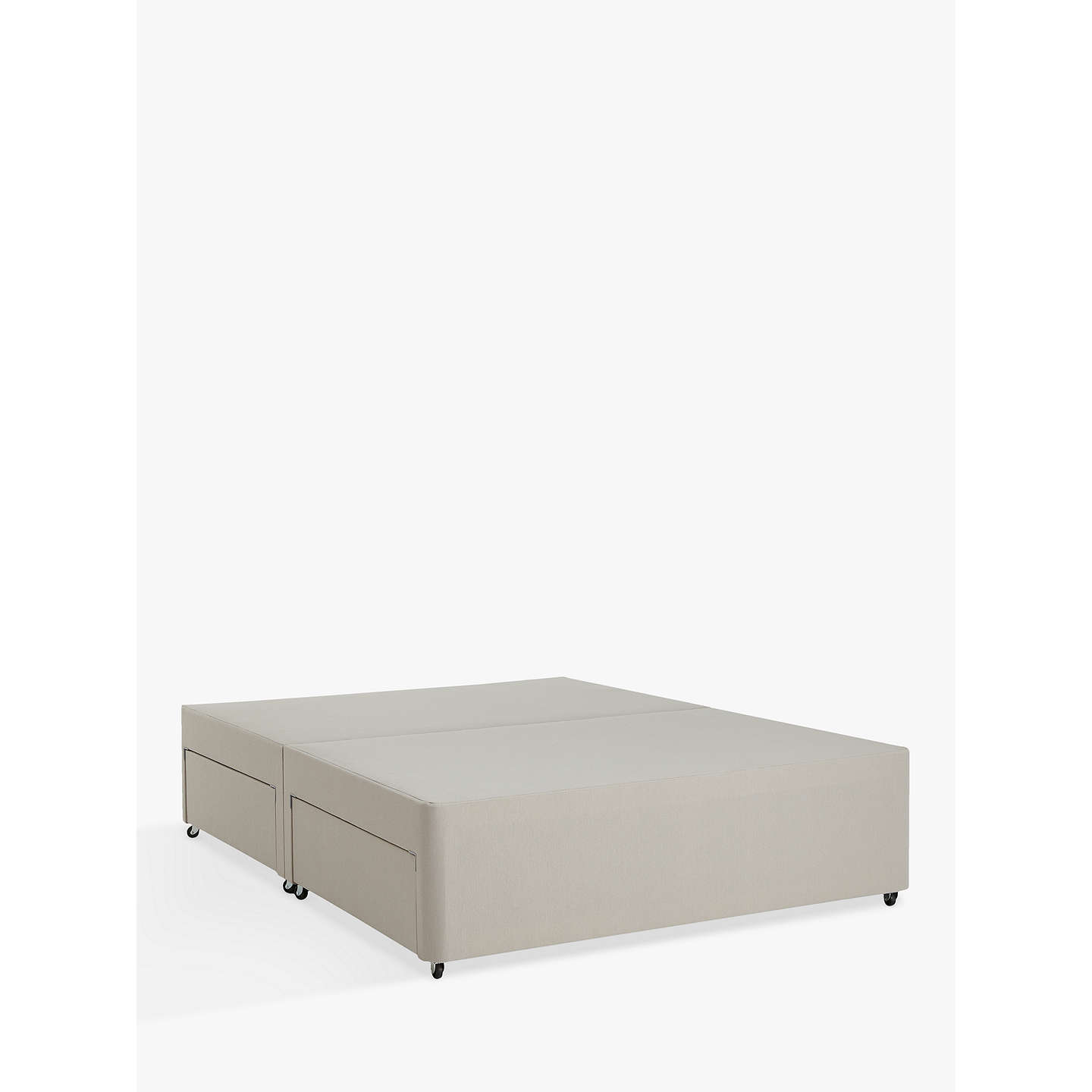 John lewis non sprung four drawer divan storage bed for King size divan bed base with 4 drawers
