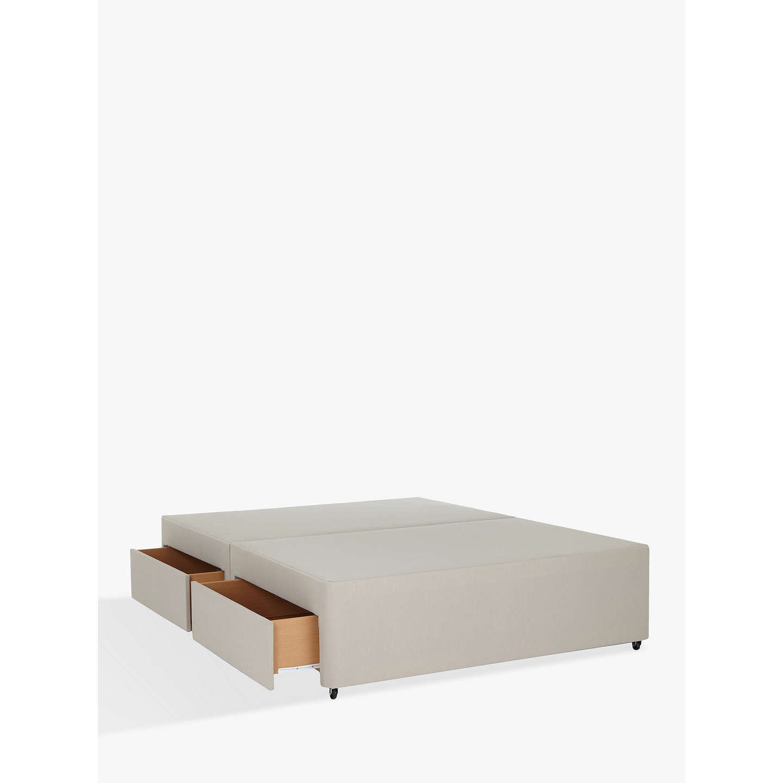 John lewis non sprung four drawer divan storage bed for Sprung base divan bed with storage