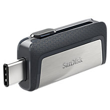 Buy SanDisk Dual Drive USB Type-C, 128GB Online at johnlewis.com
