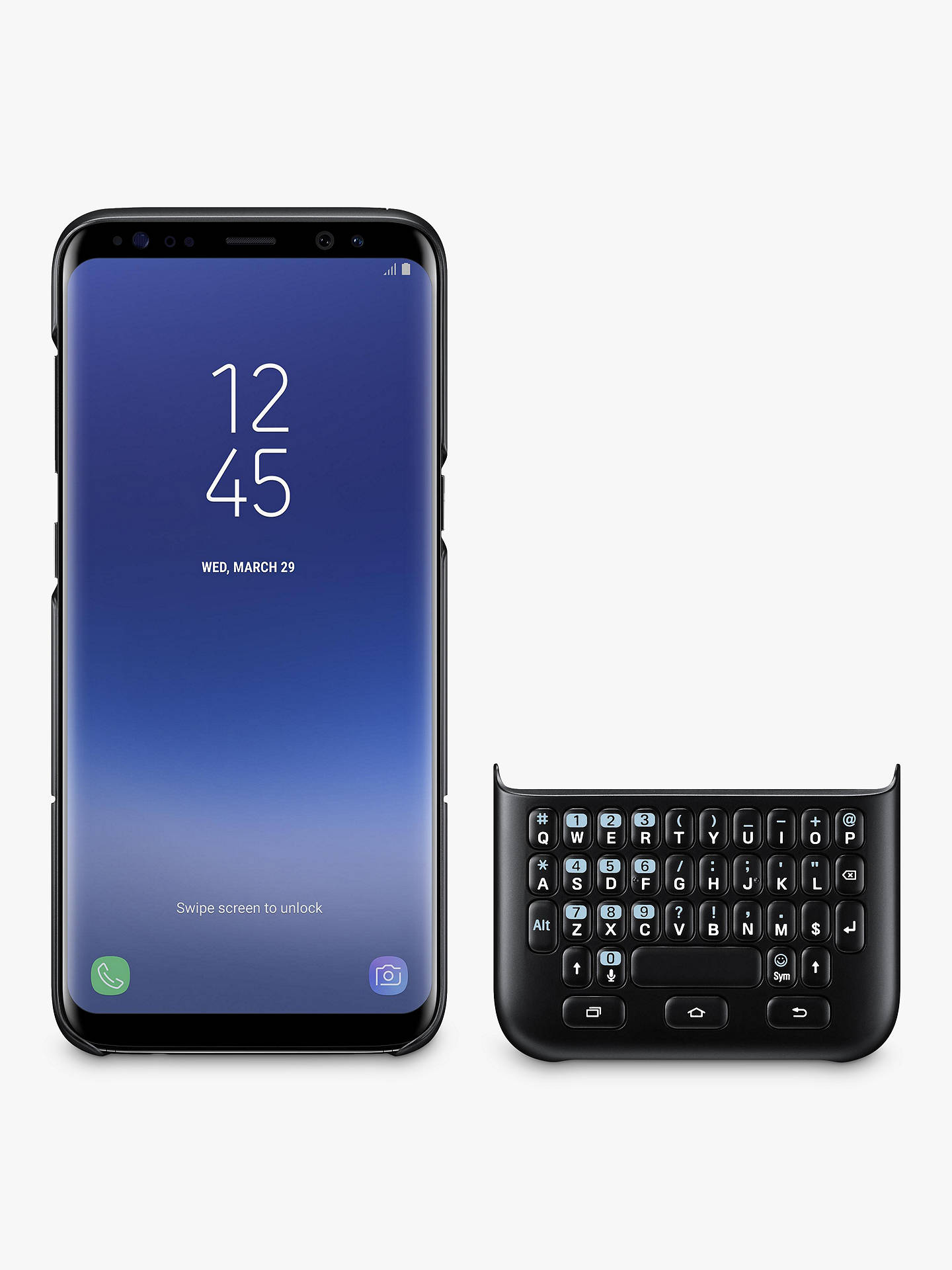 BuySamsung Galaxy S8 Keyboard Cover, Black Online at johnlewis.com