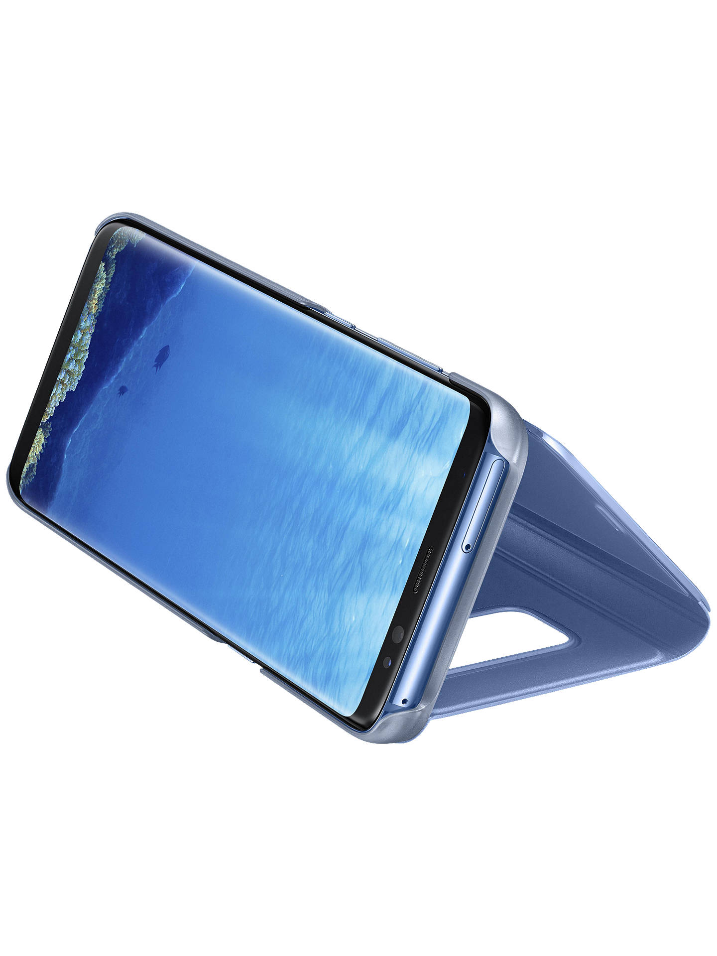 BuySamsung Galaxy S8 Clear View Stand Cover, Blue Online at johnlewis.com