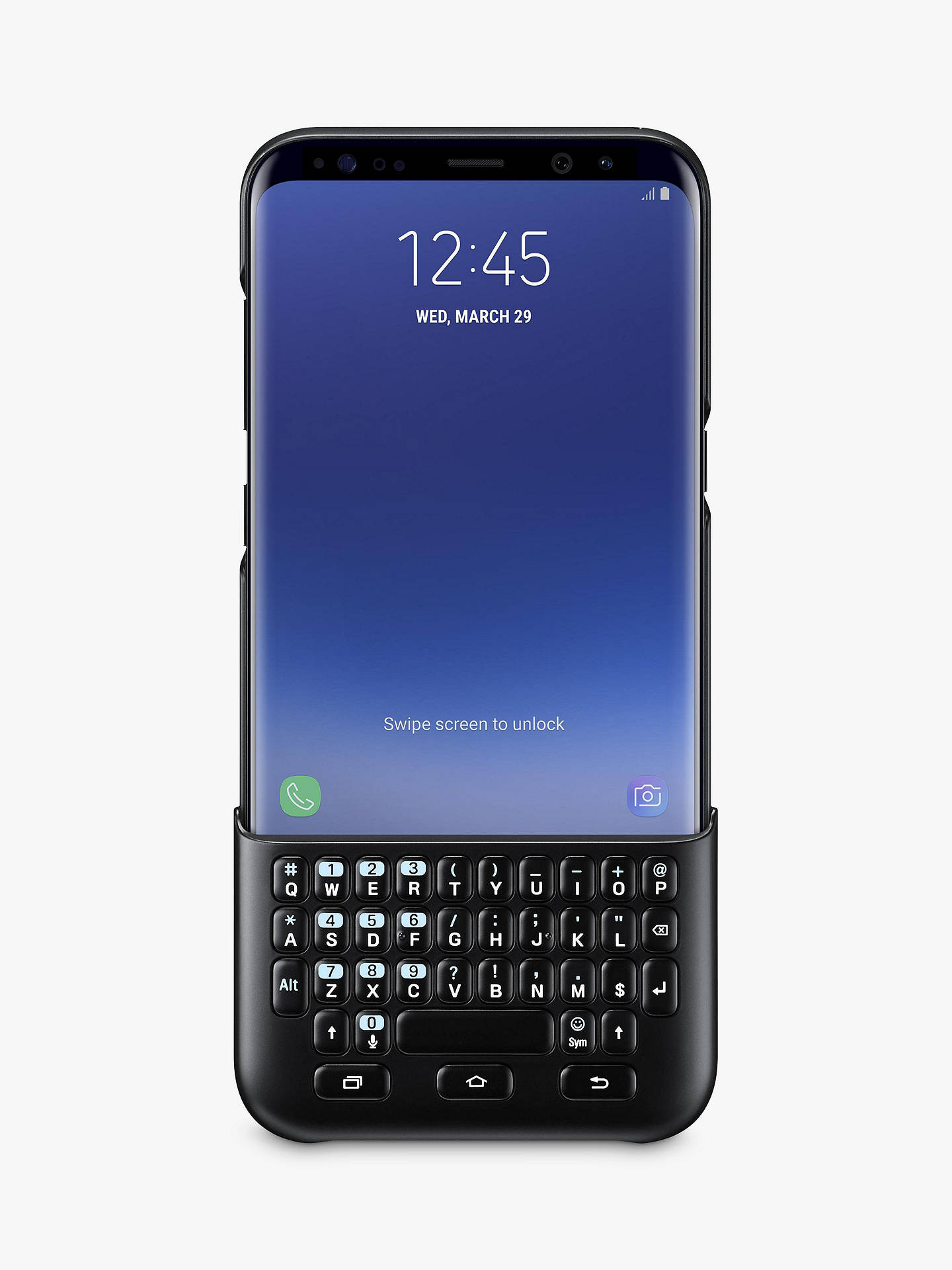 Buy Samsung Galaxy S8 Plus Keyboard Cover, Black Online at johnlewis.com