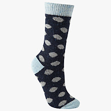 Buy John Lewis Wool Silk Mix Spot Print Ankle Socks Online at johnlewis.com