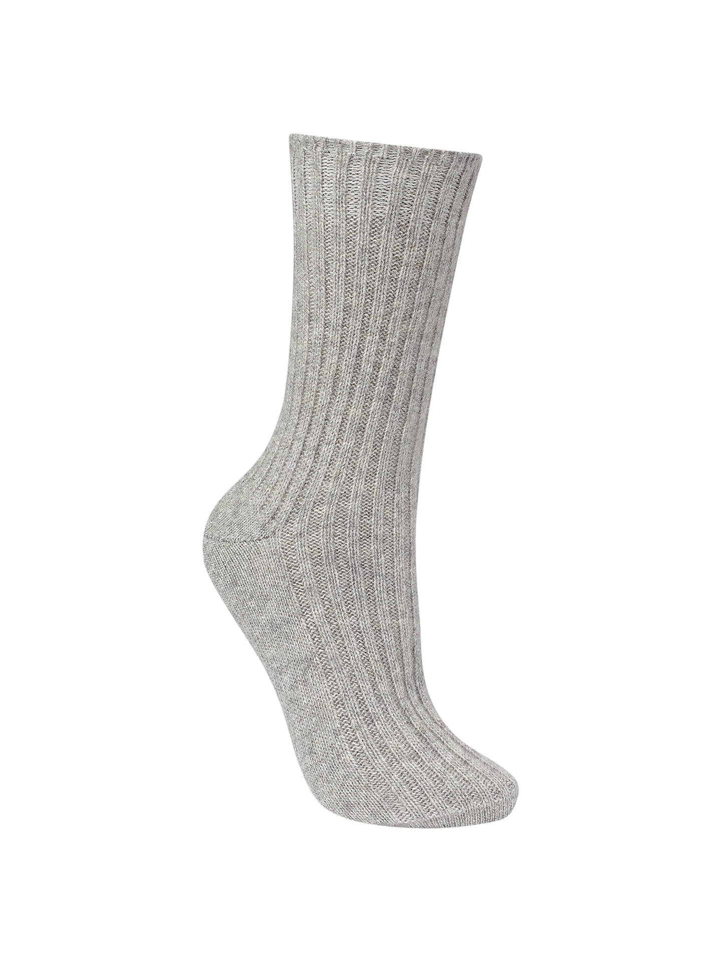 BuyJohn Lewis Cashmere Bed Socks, One Size, Grey Online at johnlewis.com