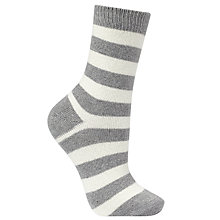 Buy John Lewis Cashmere Blend Stripe Socks, One Size Online at johnlewis.com
