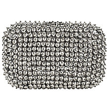 Buy John Lewis Florence Box Clutch Bag, Silver Online at johnlewis.com
